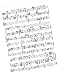 a Mansel Thomas Manuscript