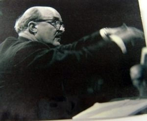 Composer Mansel Thomas Conducting
